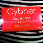 Carrie Walton's Cybher badge